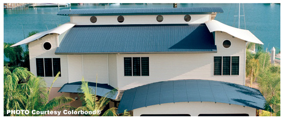 Colorbond® Curved Steel Roofing - K & M Roofing
